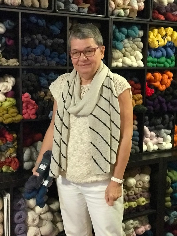 Connie's deliciously light Oasis by Shibui  Knits knit with Shibui Fern