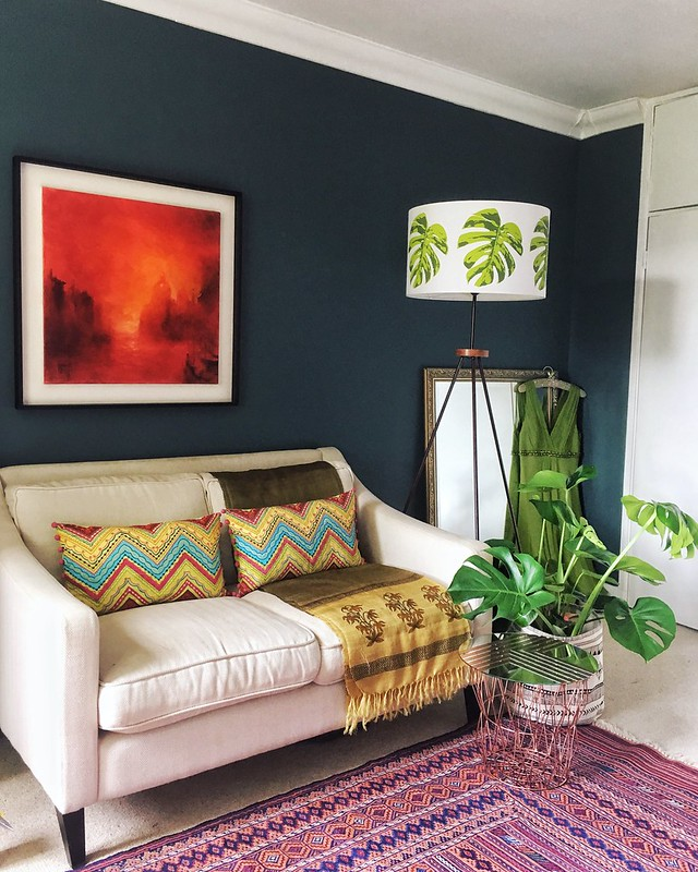This Modernist Home in London Shows How to Get Dark and Moody Decor Right. Hint: With Splashes of Color.