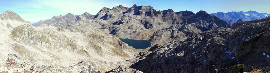 Panoramique depuis le Col de la Vache versant Nord