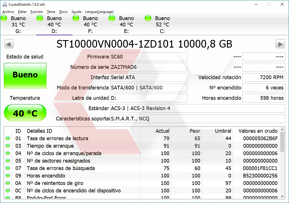 INFO HDD Seagate 10 TB OverCluster