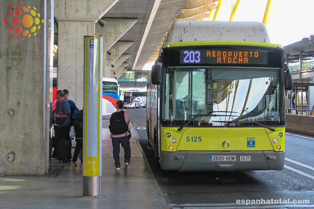 os ônibus do aeroporto de Madri Barajas