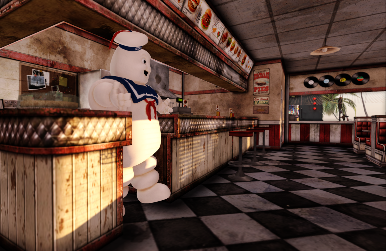The restaurant and the marshmallow man