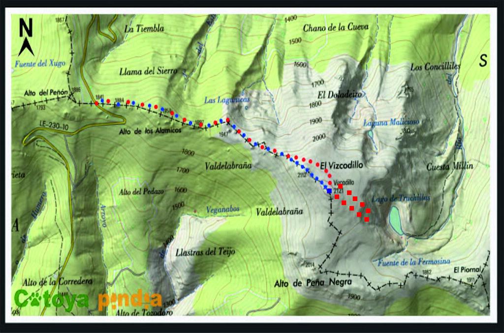 45.- Mapa caminhada Pico Vizcodillo