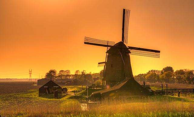 A Dutch Sunset in Holland.
