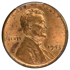 1943 bronze cent obverse