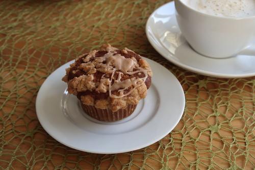 Apfel-Kürbis-Muffin zum Milchkaffee