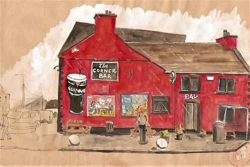 Falcarragh... The corner Bar