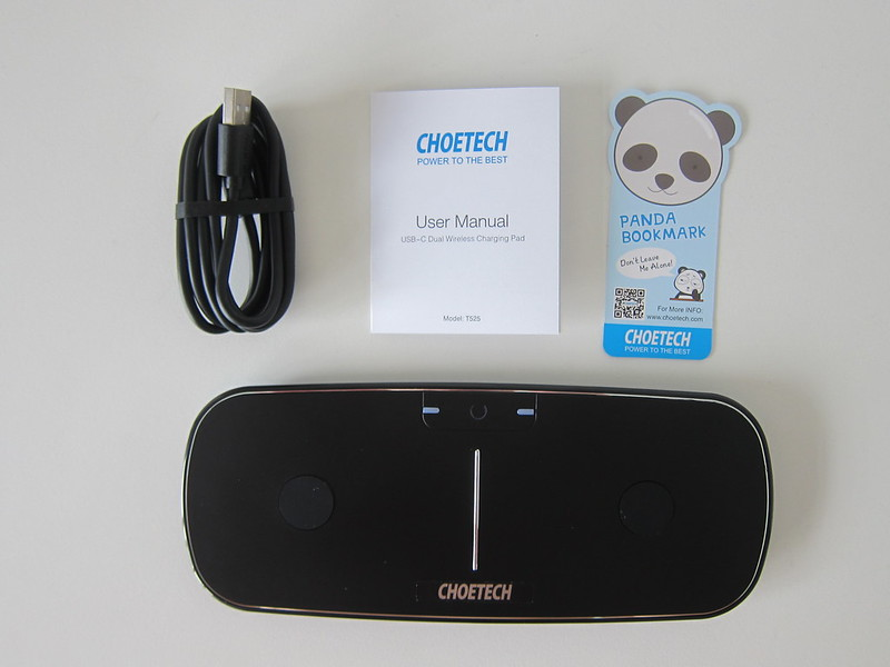 Choetech Dual Wireless Charging Pad - Box Contents