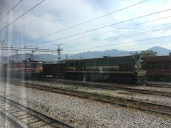 Rolling stock on the Bar to Belgrade line in Montenegro