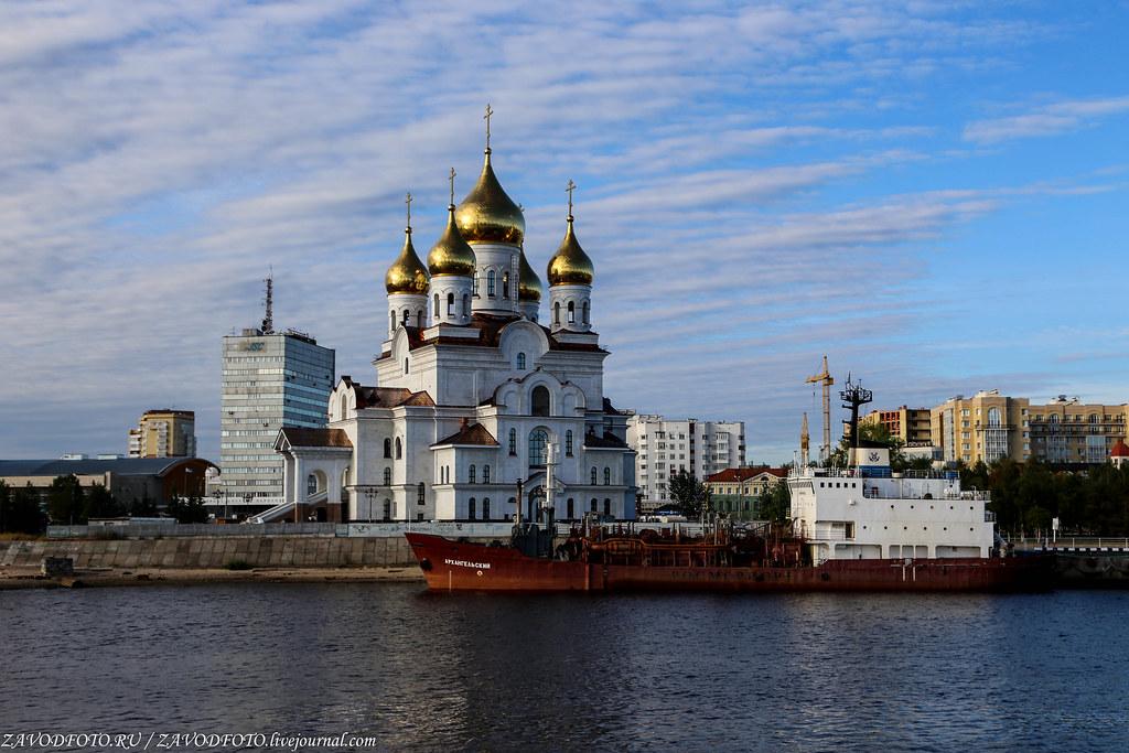 Архангельск с воды