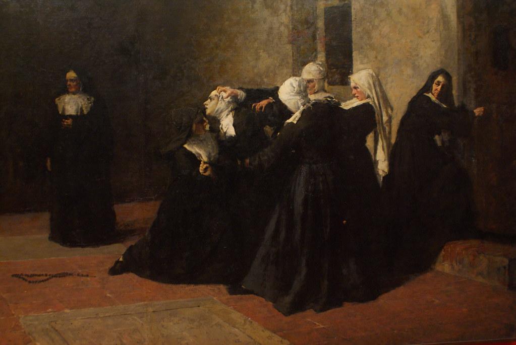 """""""La cella delle pazze"""" (1884) de Giacomo Grosso - GAM, musée d'art moderne de Turin."""