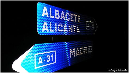 A medio camino, en La Roda (Albacete)