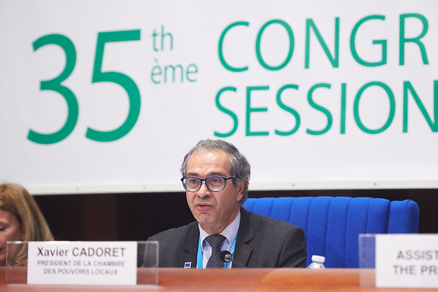 Xavier Cadoret, President of the Chamber of Local Authorities of the Congress of Local and Regional Authorities of the Council of Europe