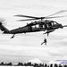 HH-60G Pave Hawk in Black & White Letting Down PJ by AvgeekJoe