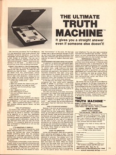 1979 The Truth Machine Advertisement Playboy October 1979