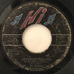 AL GREEN:LET'S STAY TOGETHER(LABEL SIDE-A)