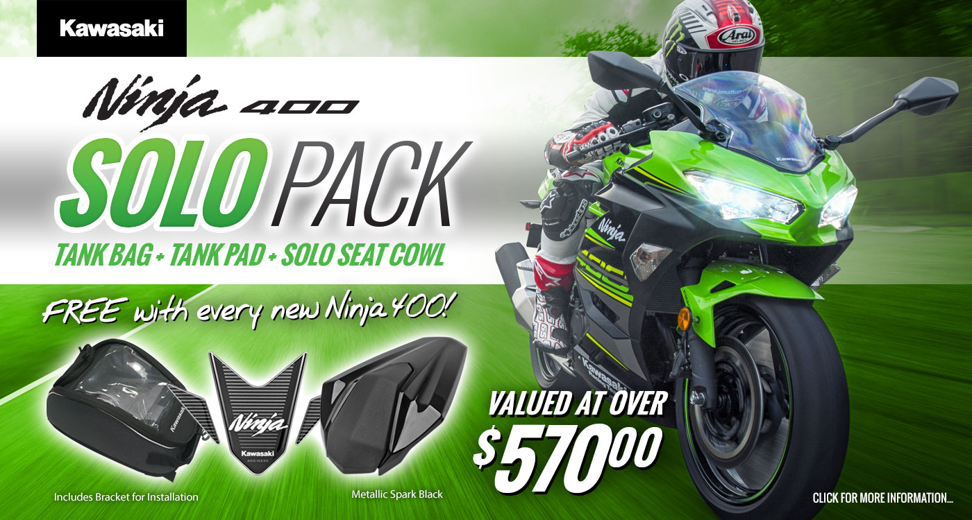 Ninja 400 Solo Pack Promotion