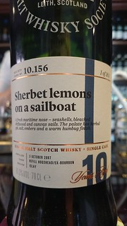 SMWS 10.156 - Sherbet lemons on a sailboat