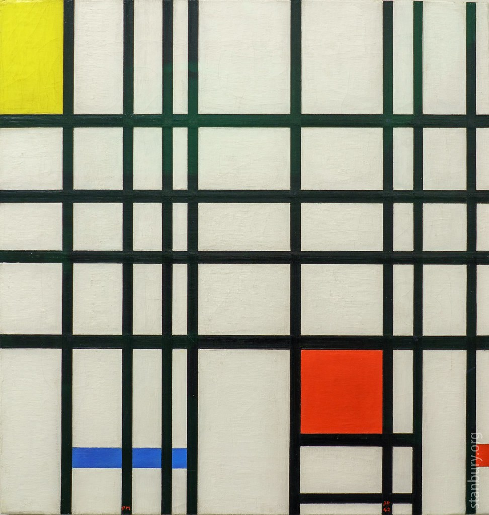 Composition With Yellow Blue And Red Piet Mondriaan Flickr