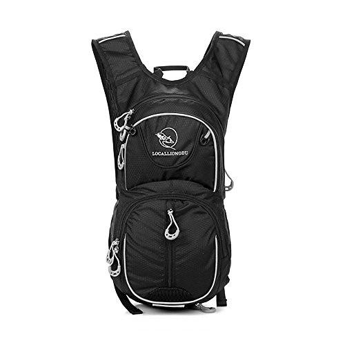 TXJ Lightweight Durable Water Resistant Backpack for Cycling Backpack Trekking Backpack Travel Backpack Hiking Daypack Rucksack(Black)