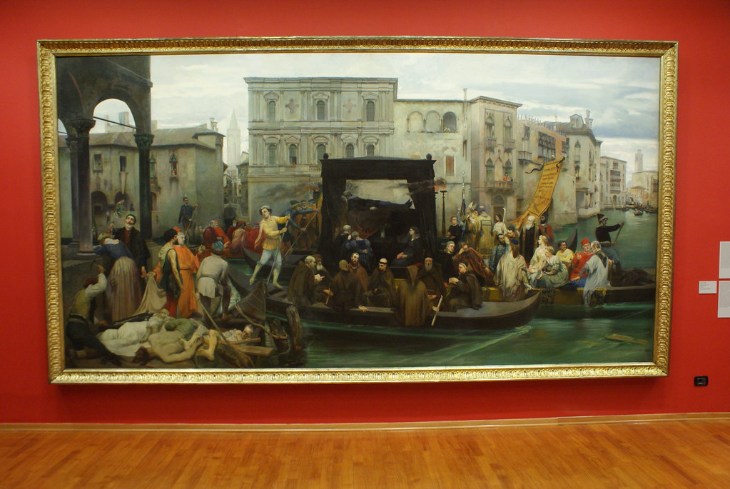 """I funerali di Tiziano"" (1855) d'Enrico Gamba - GAM, musée d'art moderne de Turin."