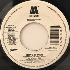 BOYZ II MEN:4 SEASONS OF LONELINESS(LABEL SIDE-B)