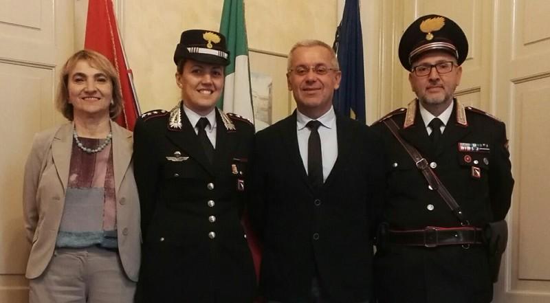 Il Sindaco di Castel Bolognese ha incontrato il Capitano dei Carabinieri Antonietta Petrone