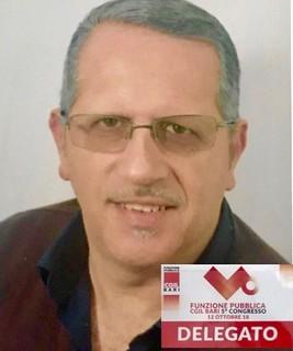 Comes Vito  Delegato della FP CGIL di Bari, eletto nel Direttivo Provinciale