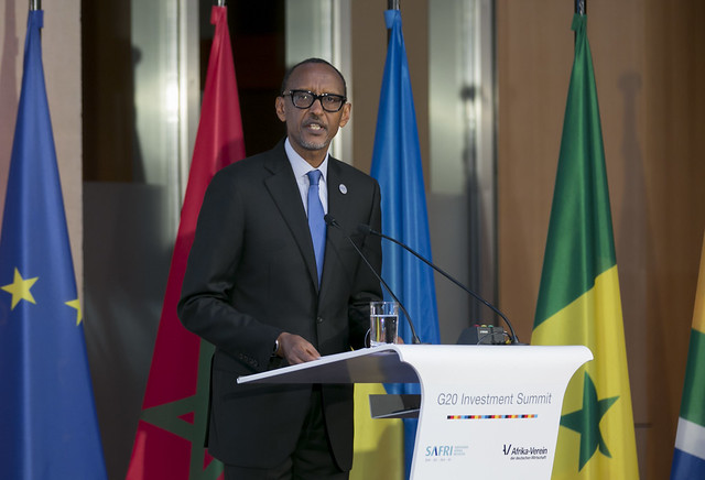 President Kagame speaks at G20 Investment Summit   Berlin, 30 October 2018