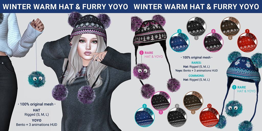 SEmotion x Libellune Winter Warm Hat + Furry YoYo Gacha Set