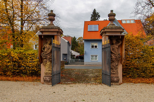 Entrance to the park of the Blaues Schloss, Obernzenn