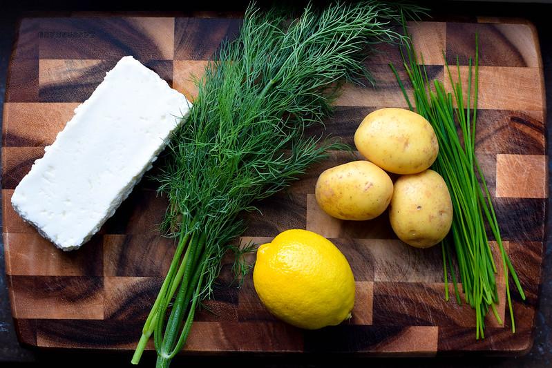 Vegetarisk fiskgratäng ingredienser