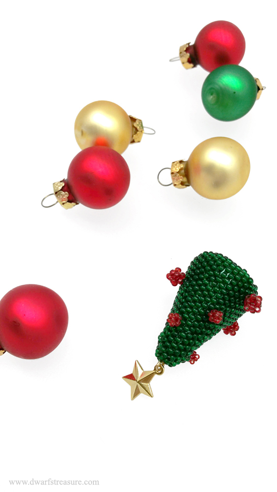 Custom made beaded Christmas décor