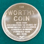 Worthy Coin Company 5oth anniversary otken reverse