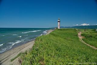 Lighthouse in Slepikovskogo Cape, Sakhalin