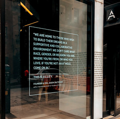 Alley Chelsea Window Quote - NYC