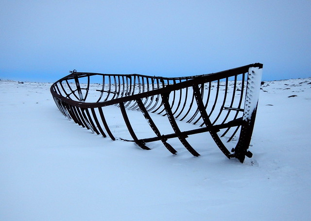 Arctic rusty shipwreck in, Nikon COOLPIX AW130