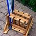 Dřevěný stojan na běžky a hůlky - 4 místný