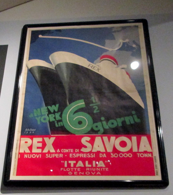 Art Deco Poster, Ocean Liners Exhibition, V&A, Dundee