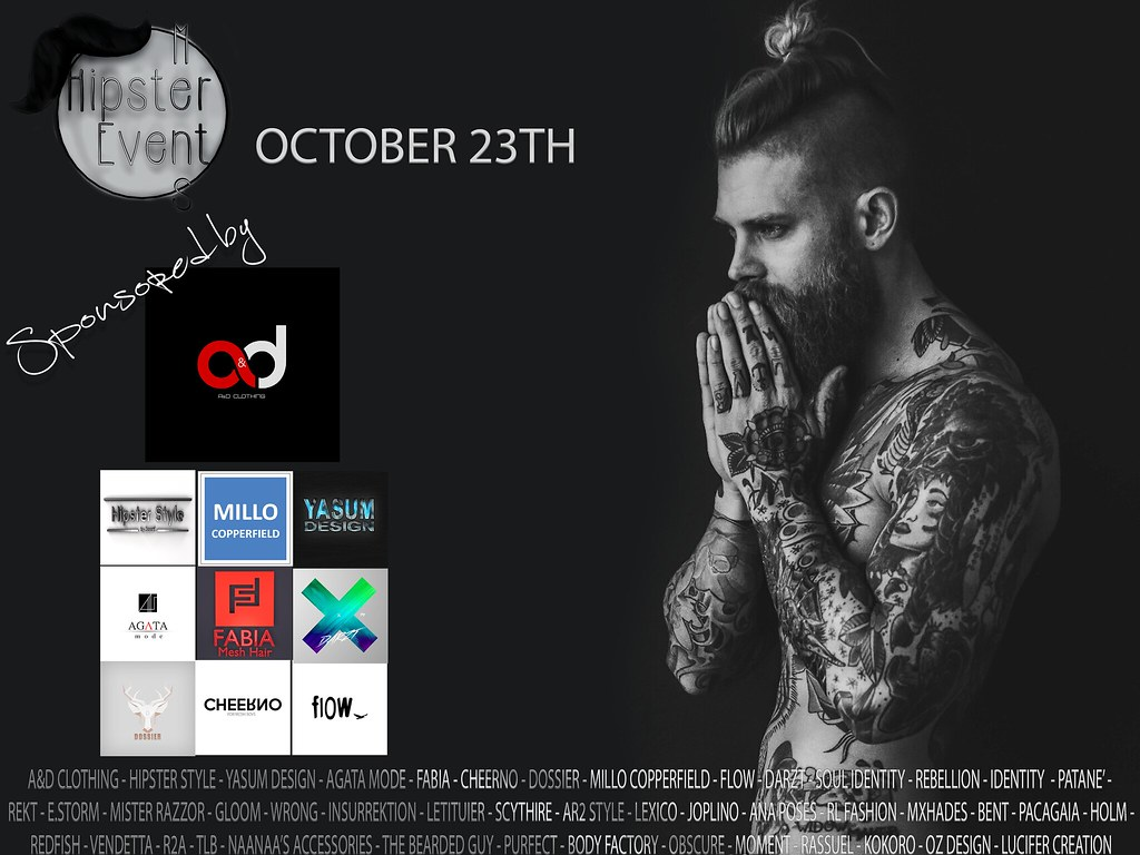 Hipster Men Event OCTOBER ROUND 2018