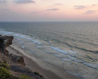 Sunset at Nof Yam Beach