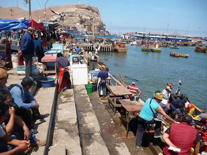 Fish cleaning wharf