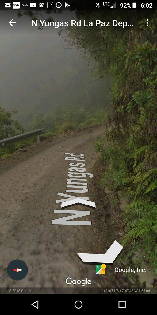 Yungas road - Google Earth Streetview
