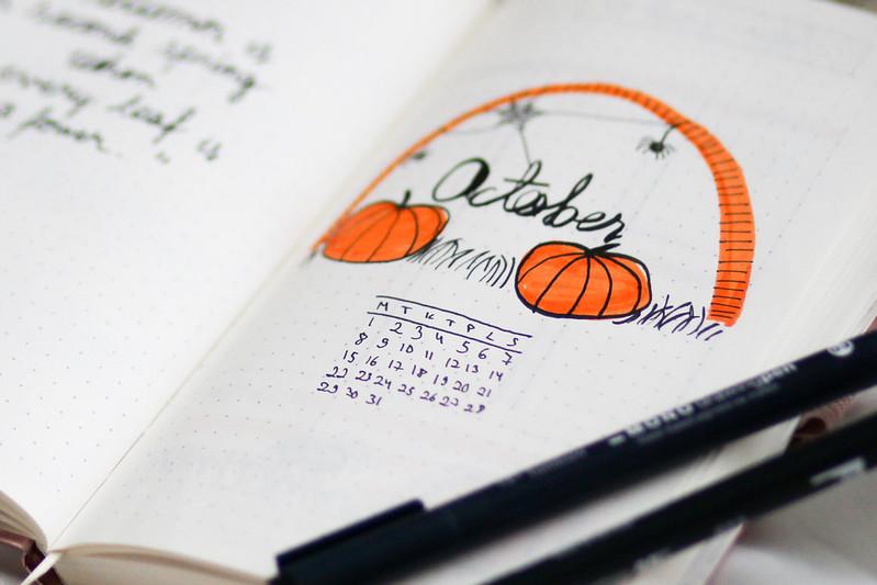 lokakuu bullet journal blogi 6