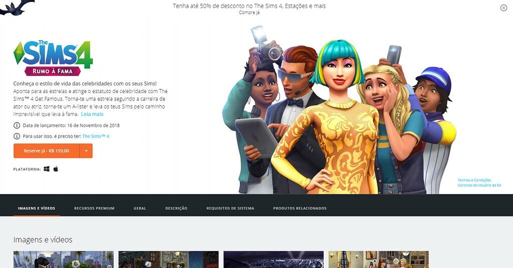 Photo of Pré-Venda do The Sims 4 Rumo à Fama já Disponível
