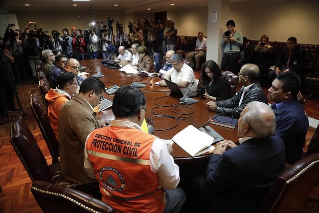 Reunión de Trabajo de la Comisión Nacional de Protección Civil, Prevención y Mitigación de Desastres.