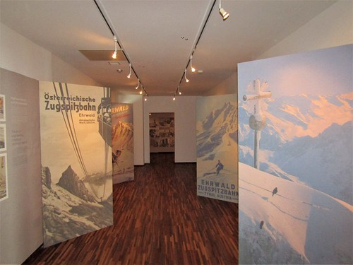 old posters in museum of Zugspitze