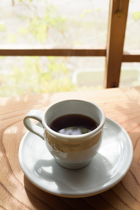 Coffee made from brown rice, at Nobusina NAGANO