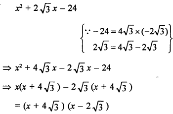 Solution Of Rd Sharma Class 9 Chapter 5 Factorisation of Algebraic Expressions