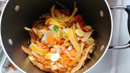 Vegetable Peelings for Making Broth!